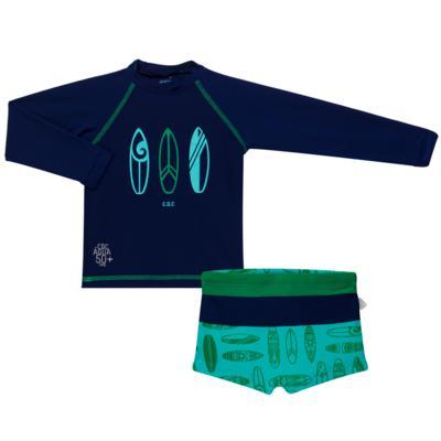 Imagem 1 do produto Conjunto de Banho Malibu: Camiseta surfista + Sunga - Cara de Criança - KIT 1 2573: SB2573+CSAL2573 SUNGA E CAMISETA PRANCHAS DE SURF-6