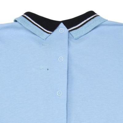 Imagem 2 do produto Macacão Polo para bebe em suedine Azul - Mini Sailor