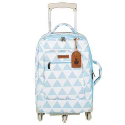 Imagem 2 do produto Mala maternidade com Rodízio + Bolsa Everyday + Frasqueira Organizadora + Necessaire Manhattan Azul - Masterbag