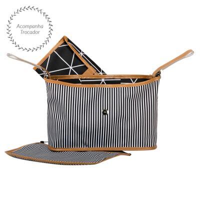 Imagem 4 do produto Mala maternidade com Rodízio + Bolsa Everyday + Frasqueira Organizadora + Necessaire Manhattan Azul - Masterbag