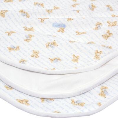 Imagem 2 do produto Manta para bebe em algodão egípcio c/ jato de cerâmica e filtro solar fps 50 Maternity Blue Bear - Mini & Kids - MSD1657 MANTA AVULSA SUEDINE URSO MENINO 2