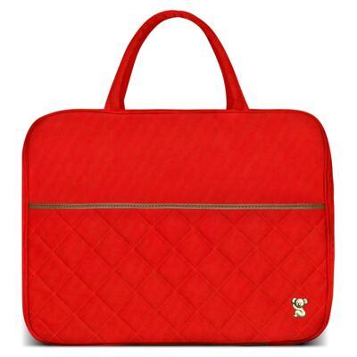 Imagem 2 do produto Mala Maternidade para bebe + Bolsa de Viagem + Frasqueira Térmica Heloisa em sarja Casual Cenoura - Classic for Baby Bags