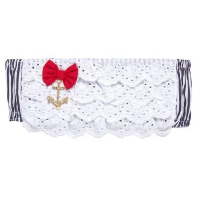 Imagem 2 do produto Conjunto de banho Sailor: Biquini + Chapéu - Roana - BSTR0901008 Banho de Sol c/ Top Marinho Âncora-G