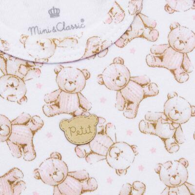 Imagem 3 do produto Regata com Cobre fralda para bebe em algodão egípcio c/ jato de cerâmica Princess Bear - Mini & Classic - CJRR655 REGATA C/ COBRE FRALDAS SUEDINE URSA-G