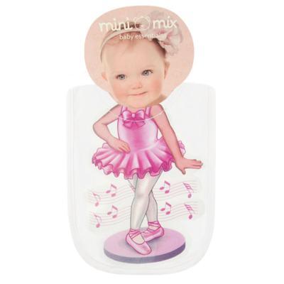 Imagem 1 do produto Babador Maxi em suedine Mini Ballerina - Mini Mix - MXBAM1607 BABADOR MAXI SUEDINE BAILARINA