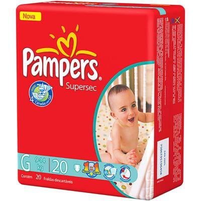 Imagem 1 do produto Fralda Pampers Supersec Tamanho G - 20 unidades