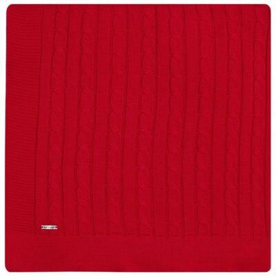 Imagem 1 do produto Manta em tricot Vermelha - Baby Classic - 591177 MANTA TRICO ROSES