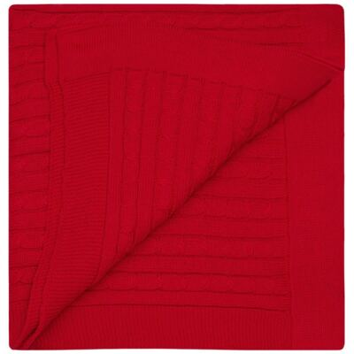 Imagem 2 do produto Manta em tricot Vermelha - Baby Classic - 591177 MANTA TRICO ROSES