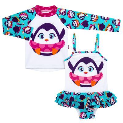 Imagem 1 do produto Conjunto de banho Pinguim: Camiseta + Maiô - Puket - KIT PK PINGUIM Camiseta + Maio Pinguim Puket-2