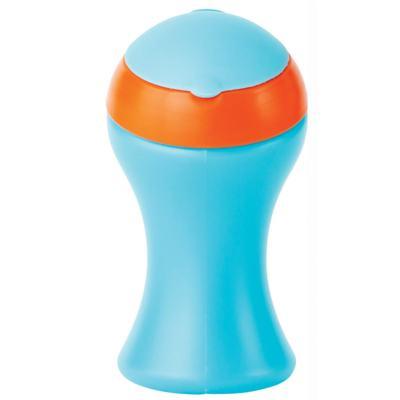 Imagem 1 do produto Copo grande c/ tampa giratória Azul/Laranja (9m+) - Boon - BN217 Copo grande c/ tampa giratória Azul/Laranja (9m+)