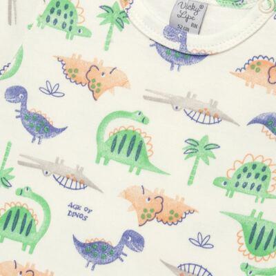 Imagem 2 do produto Body curto para bebe em suedine Dinossauros - Vicky Lipe - 02060001.34 BODY M/C - SUEDINE-P
