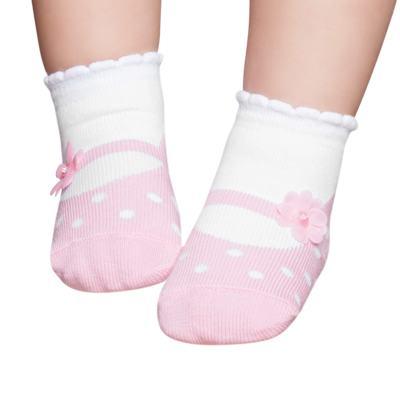 Imagem 1 do produto Meia Soquete recém-nascido Florzinha Rosa - Puket