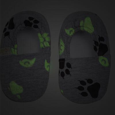 Imagem 3 do produto Pantufa em malha Lobo - Cara de Criança - P2753 LOBO P PANTUFA M/MALHA -23/24