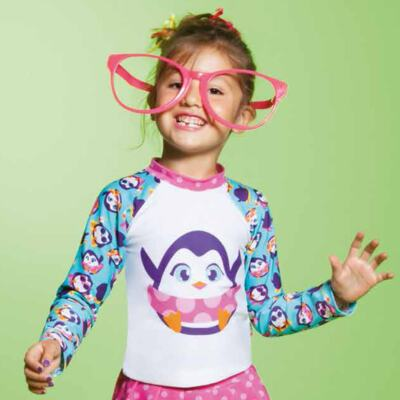 Imagem 6 do produto Conjunto de banho Pinguim: Camiseta + Maiô - Puket - KIT PK PINGUIM Camiseta + Maio Pinguim Puket-4