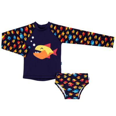 Imagem 1 do produto Conjunto de banho Piranha: Camiseta + Sunga - Puket - KIT PK PIRANHA Camiseta + Sunga Piranha Puket-4