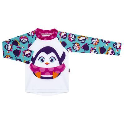 Imagem 2 do produto Conjunto de banho Pinguim: Camiseta + Maiô - Puket - KIT PK PINGUIM Camiseta + Maio Pinguim Puket-6-9