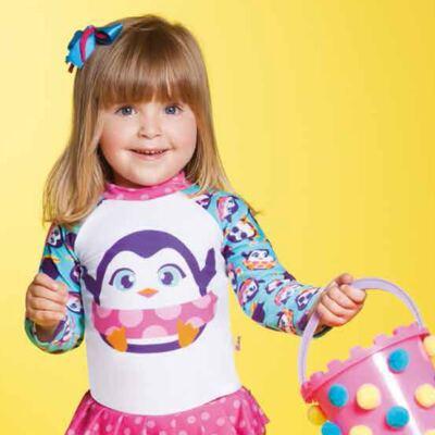 Imagem 6 do produto Conjunto de banho Pinguim: Camiseta + Maiô - Puket - KIT PK PINGUIM Camiseta + Maio Pinguim Puket-6-9