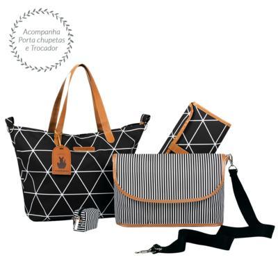 Imagem 2 do produto Bolsa 4 em 1 Sofia + Frasqueira térmica Vicky + Frasqueira Organizadora Manhattan Preto - Masterbag