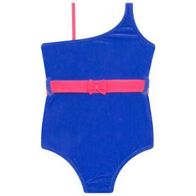 Imagem 2 do produto Maiô em Lycra aveludado Blue & Pink - Cara de Criança - M1274 VEL VET MAIO LYCRA-4