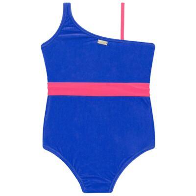 Imagem 3 do produto Maiô em Lycra aveludado Blue & Pink - Cara de Criança - M1274 VEL VET MAIO LYCRA-3
