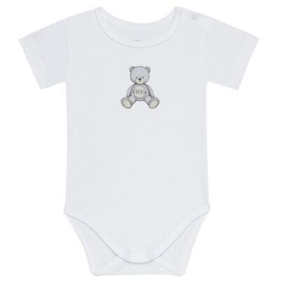 Imagem 1 do produto Body curto para bebe em Pima Cotton Supreme Prime Bear Branco - Mini & Kids - BDMC0001.64 BODY MANGA CURTA - SUEDINE-M