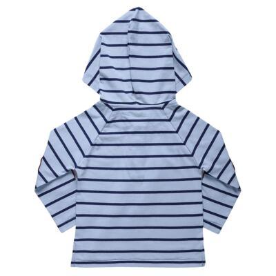 Imagem 3 do produto Blusão com Capuz e Calça para bebe em moletom Azure - Charpey - CY14902.501 CONJ BLUSA C/ CAPUZ E CALÇA INOCENSE-G