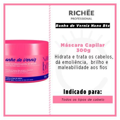 Imagem 3 do produto Richée Professional Banho de Verniz Nano Btx - Máscara Capilar - 300g
