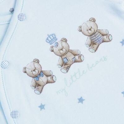 """Imagem 2 do produto Macacão longo c/ abertura """"S"""" para bebe em algodão egípcio Prince Bear - Mini & Classic - 2004656 MACACAO S C/ PE REVERSIVEL SUEDINE URSO-P"""