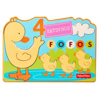 Imagem 1 do produto Livro infantil 4 Patinhos Fofos (12m+) - Fisher Price