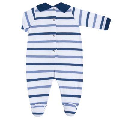 Imagem 4 do produto Macacão polo gola V para bebe em malha Flying Club - Baby Classic - 20280001.12 MACACAO M/L POLO C/ FALSA CAMISA -P