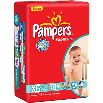 Imagem 1 do produto Fralda Pampers Supersec Tamanho XG - 18 unidades
