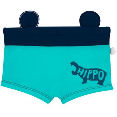Imagem 2 do produto Sunga Boxer em lycra Hipopótamo - Cara de Criança - SB1926 HIPOPOTAMO SB SUNGA BOXER LYCRA-4