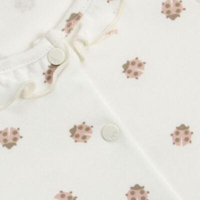 Imagem 2 do produto Macacão curto c/ golinha para bebe em algodão egípcio Ladybug - Bibe - 39C01-G68 MAC FEM MC JOANINHA-GG