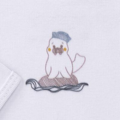 Imagem 3 do produto Body longo c/ Calça para bebe em algodão Wally - Dedeka - DDK16576/E112 Conjunto de Body Ribana Morsa -GG