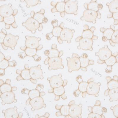 Imagem 5 do produto Pack: 02 Bodies curtos para bebe em algodão egípcio c/ jato de cerâmica Nature Little Friends - Mini & Classic - 1024650 PACK 2 BODIES MC SUEDINE NATURE -RN