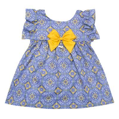 Imagem 2 do produto Vestido c/ calcinha para bebe Azulê - Roana - 24042059022 VESTIDO C/CALCINHA AZUL-G