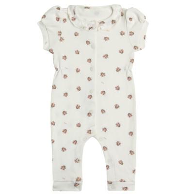 Imagem 1 do produto Macacão curto c/ golinha para bebe em algodão egípcio Ladybug - Bibe - 39C01-G68 MAC FEM MC JOANINHA-P