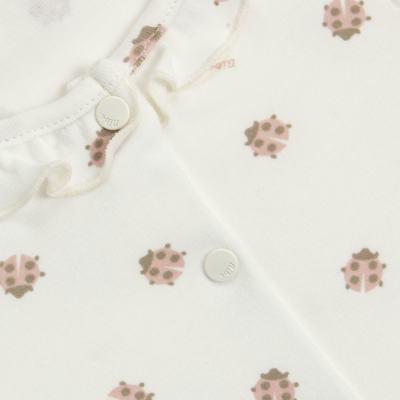 Imagem 2 do produto Macacão curto c/ golinha para bebe em algodão egípcio Ladybug - Bibe - 39C01-G68 MAC FEM MC JOANINHA-P