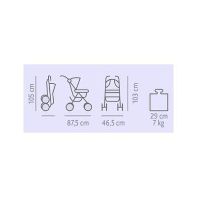 Imagem 5 do produto Carrinho de bebê Lite Way Basic Red Wave com barra de proteção Frontal Preta- Chicco