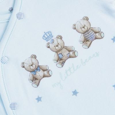 """Imagem 2 do produto Macacão longo c/ abertura """"S"""" para bebe em algodão egípcio Prince Bear - Mini & Classic - 2004656 MACACAO S C/ PE REVERSIVEL SUEDINE URSO-RN"""