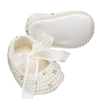 Imagem 3 do produto Sapatilha para bebe em cetim Pérolas & Strass - Roana