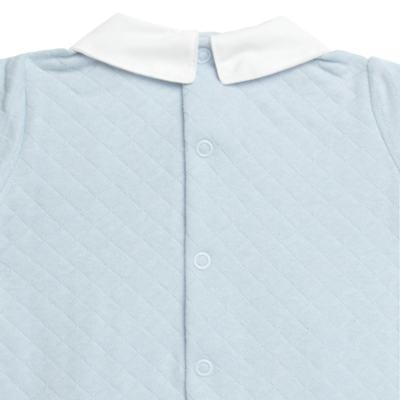 Imagem 3 do produto Macacão longo c/ golinha para bebe em viscomfort Bleu - Petit - 22104345 MACACAO C/ GOLA E PALA MATELASSE OVELHA MASC-M
