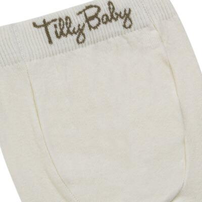 Imagem 3 do produto Meia-Calça para bebe em algodão Marfim - Tilly Baby - TB172031.03 ACESSORIO MEIA UNISSEX BASICA MARFIM-P