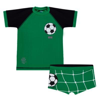 Imagem 1 do produto Conjunto de Banho Football: Camiseta surfista + Sunga - Cara de Criança - KIT 1 2529: SB2529+CSA2529 SUNGA E CAMISETA FUTEBOL-6