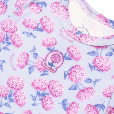 Imagem 3 do produto Body curto com Shorts em algodão egípcio c/ jato de cerâmica e filtro solar fps 50 L'Hortensia - Mini & Kids - CBS1746 CJ. BODY MC SHORTS SUEDINE HORTÊNCIAS-GG