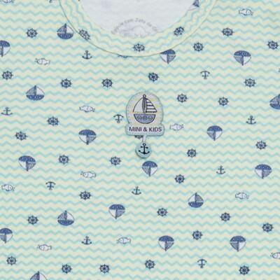Imagem 3 do produto Body curto com Shorts em algodão egípcio c/ jato de cerâmica e filtro solar fps 50 Little Boat - Mini & Kids - CBS1747 BODY MC SHORTS SUEDINE NAVY-RN