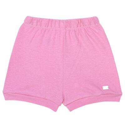 Imagem 4 do produto Body curto com Shorts em algodão egípcio c/ jato de cerâmica e filtro solar fps 50 L'Hortensia - Mini & Kids - CBS1746 CJ. BODY MC SHORTS SUEDINE HORTÊNCIAS-M