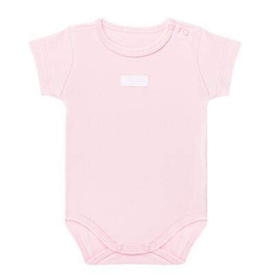 Imagem 1 do produto Body curto para bebe em suedine Rosa - Vicky Lipe - BC235 BODY MC SUEDINE ROSA BB-RN