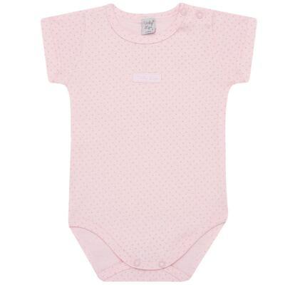 Imagem 1 do produto Body curto para bebe em suedine Classic Girls - Vicky Lipe - BCE560 BODY MC ESTAMPADO SUEDINE CLASSICO-1