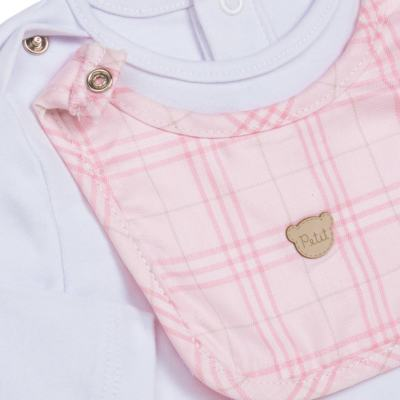 Imagem 2 do produto Body c/ Babador e Mijão para bebe em suedine Le Petit Rosa - Baby Classic - 18010001.01 CONJUNTO BODY C/ BABADOR E MIJÃO-SUEDINE-M